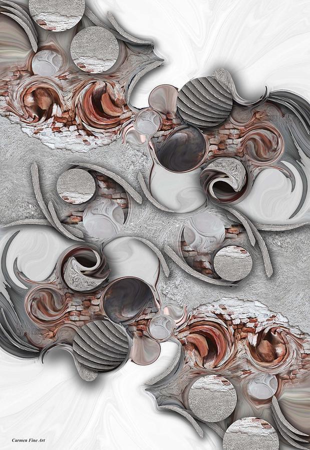 Historic Architecture Digital Art - Metamorphosis and Approach by Carmen Fine Art