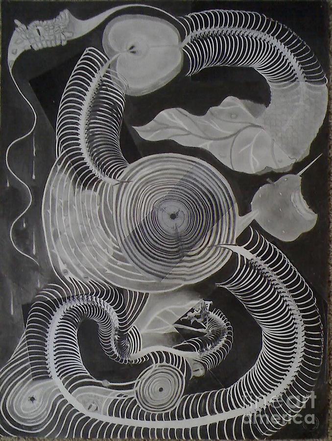 Surrealism Drawing - Metamorphosis by Katerina Wert