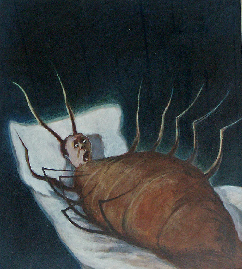 A Nightmare Painting - Metamorphosis Of Kafka by James LeGros