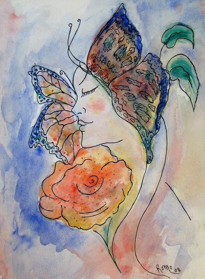 Watercolor Painting Painting - Metamorphosis by Robin Monroe