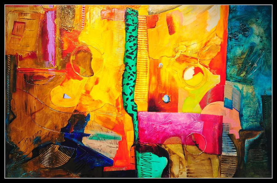 Abstract Painting - Metaphysical Discurs by Jacek  Ungierat - Jung