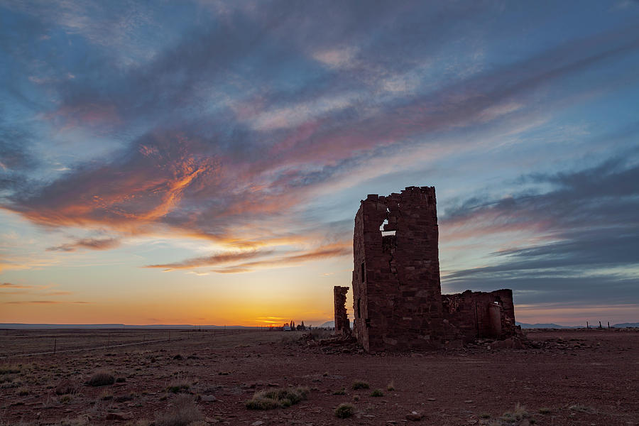 Meteor Crater Observatory At Sunset Photograph