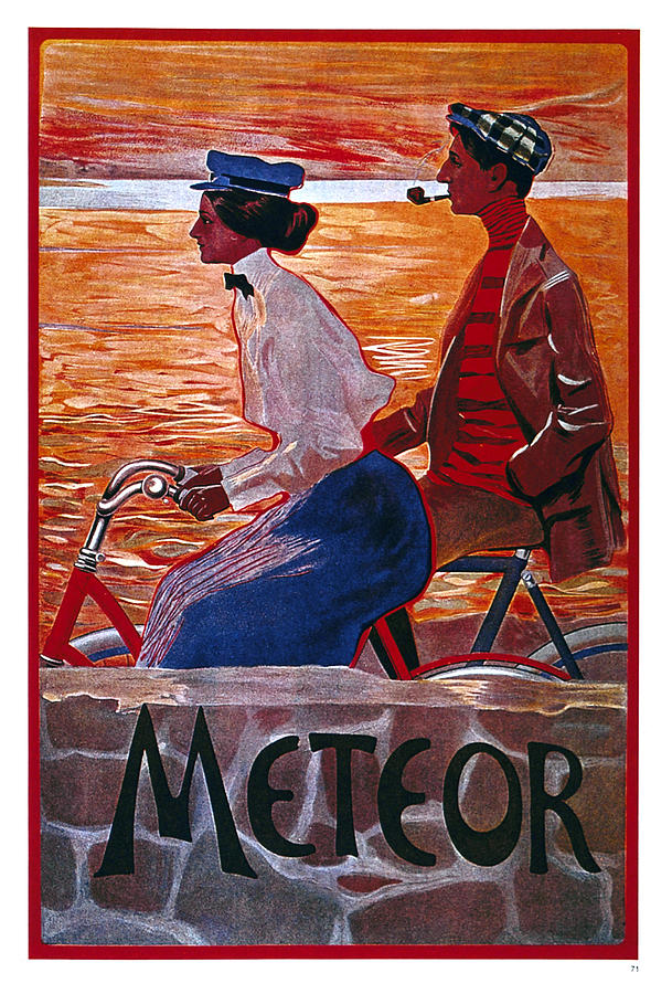 Meteor Cycles - Bicycle - Vintage Advertising Poster Mixed Media