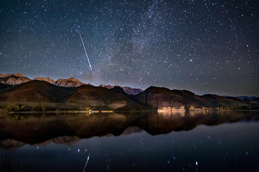 Lake Photograph - Meteor Over Sierra Nevada by Cat Connor