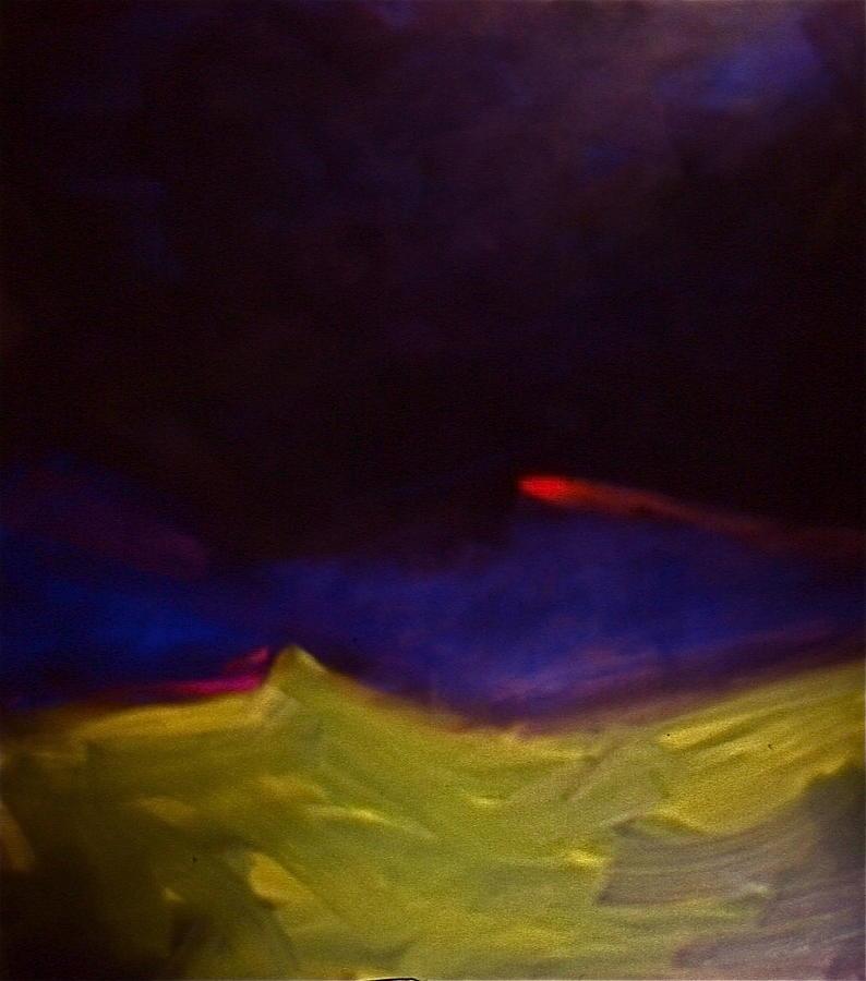 Meteorite Painting by Chris  Riley