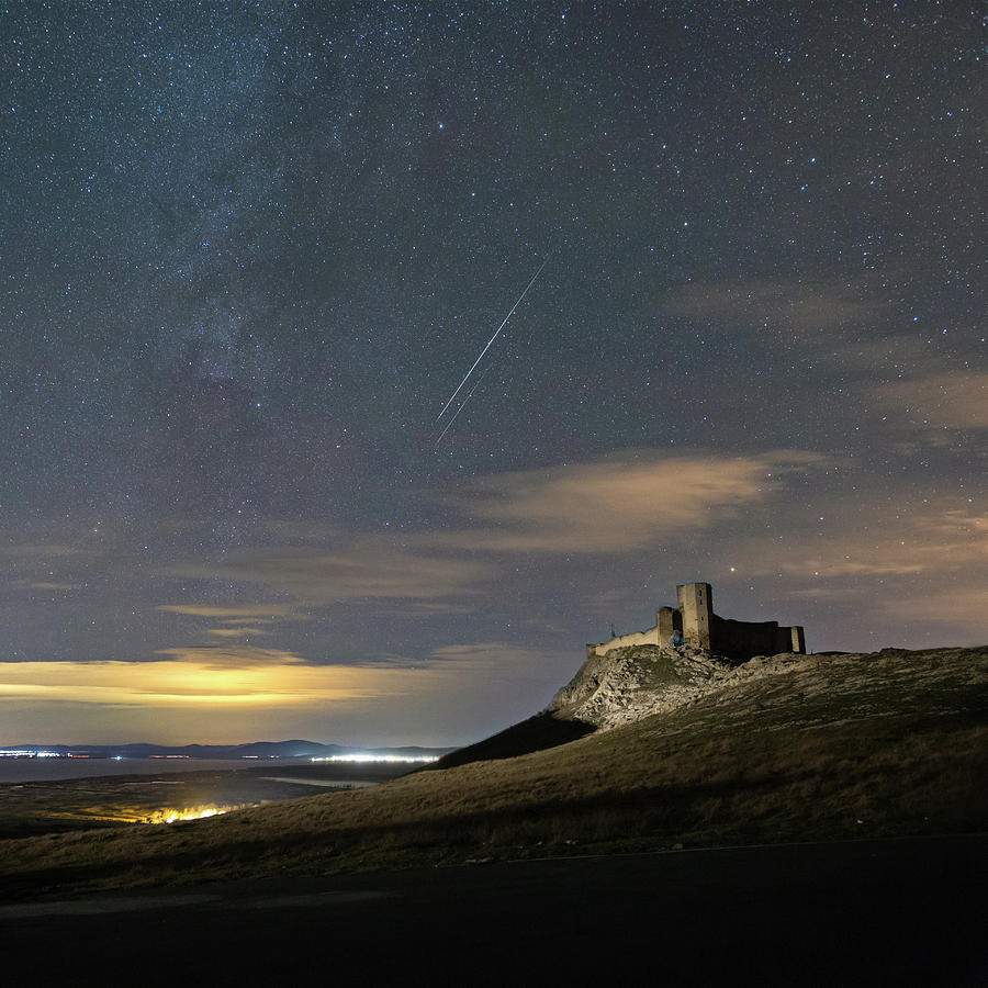 Astrophotography Photograph - Meteors Above The Fortress by Alex Conu