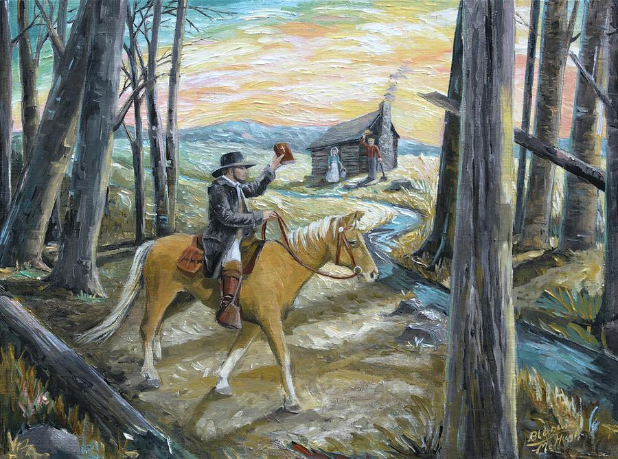 Circuit Rider Painting - Methodist Preacher by Paula McHugh