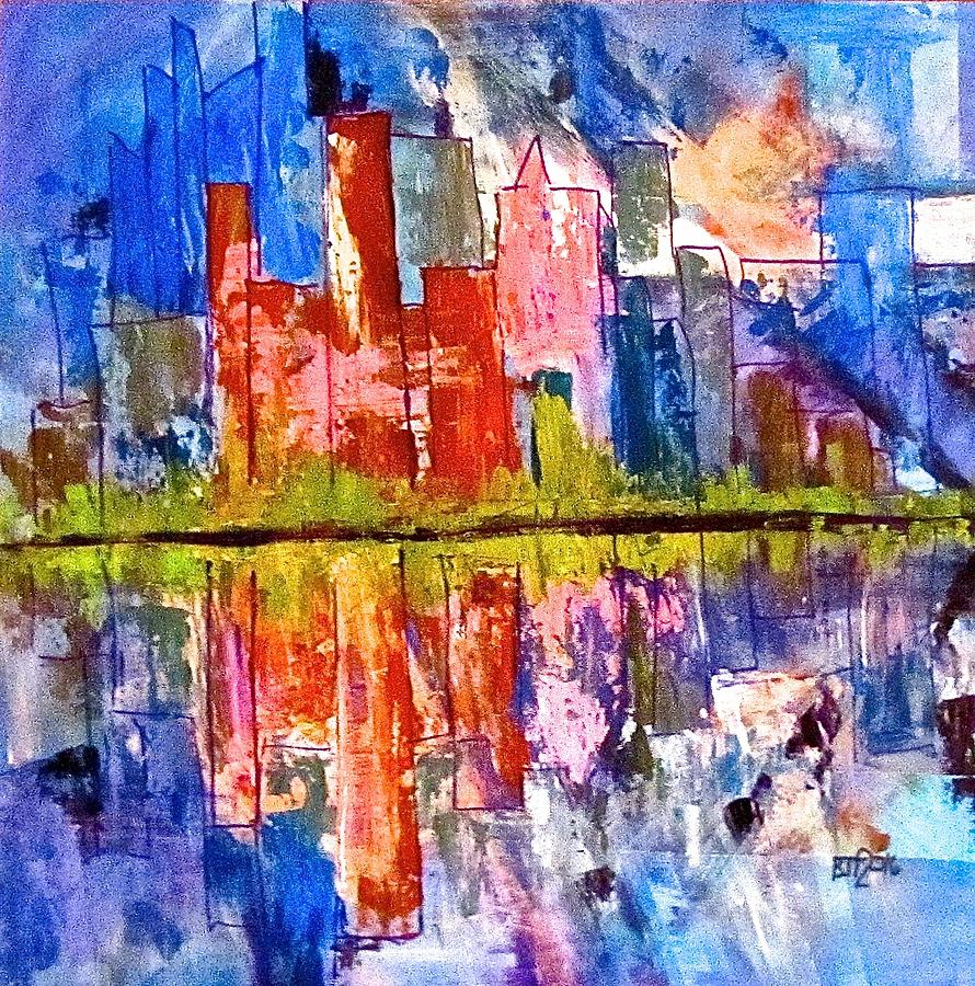 City Painting - Metropolis by Barbara OToole
