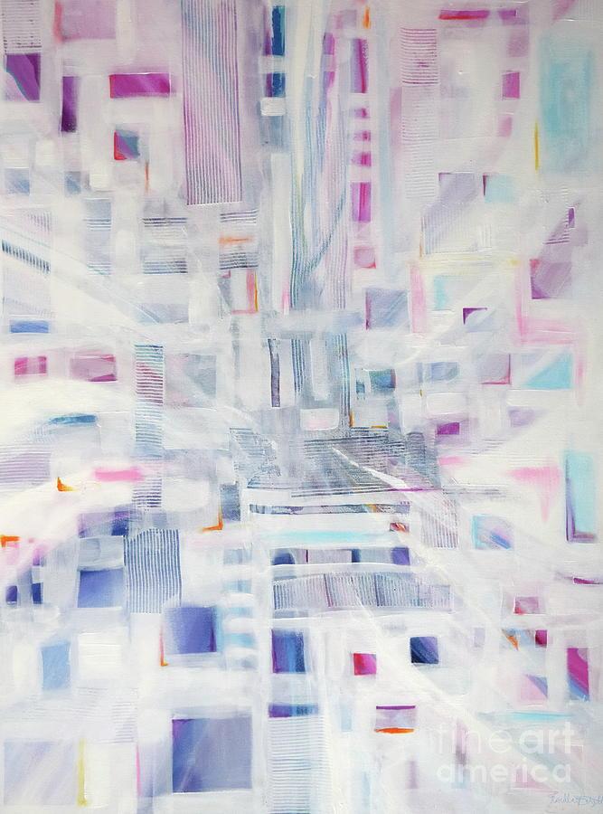 Metropolis Painting by Priscilla Batzell Expressionist Art Studio Gallery