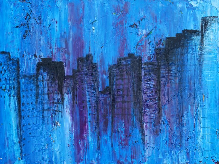 Abstract Photograph - Metropolis in Blue by Emily Page