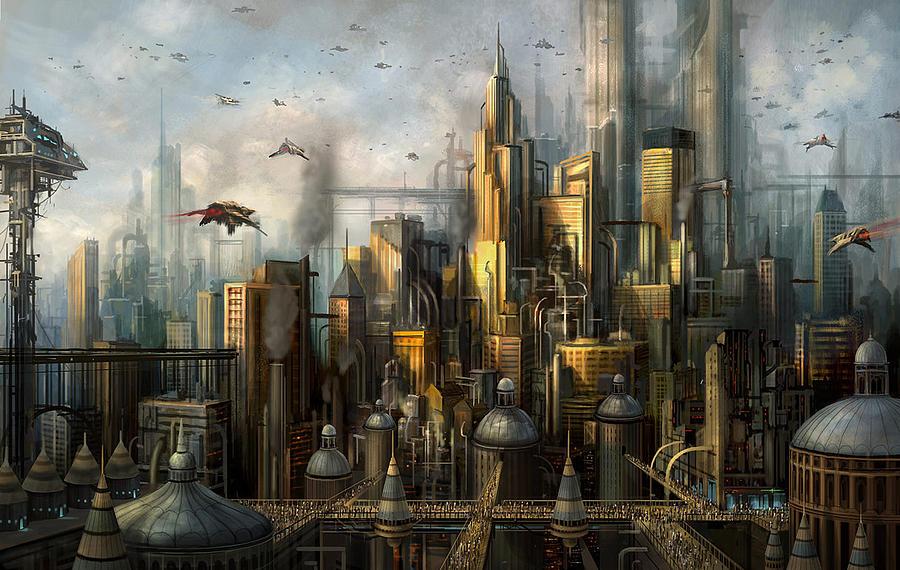 Philip Straub Painting - Metropolis by Philip Straub