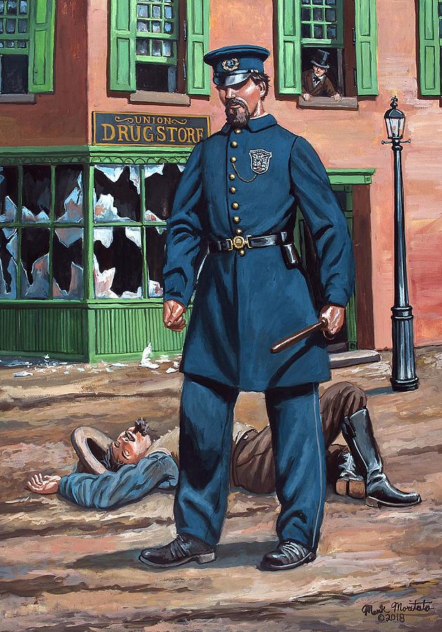 Metropolitan Painting - Metropolitan Police Officer 1863 by Mark Maritato