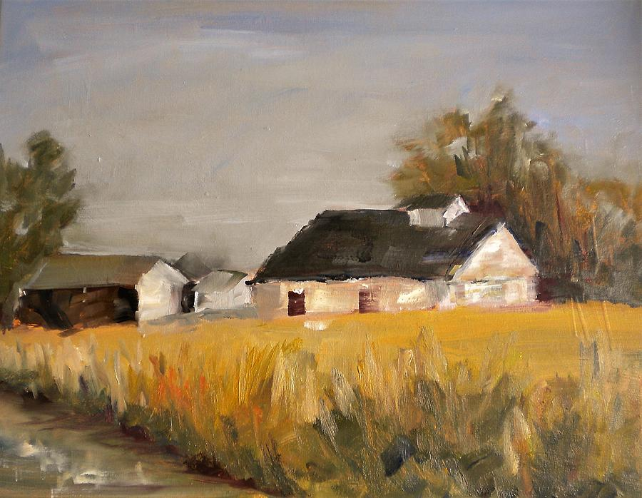Barn Painting - Metzger Farm by Sally Bullers