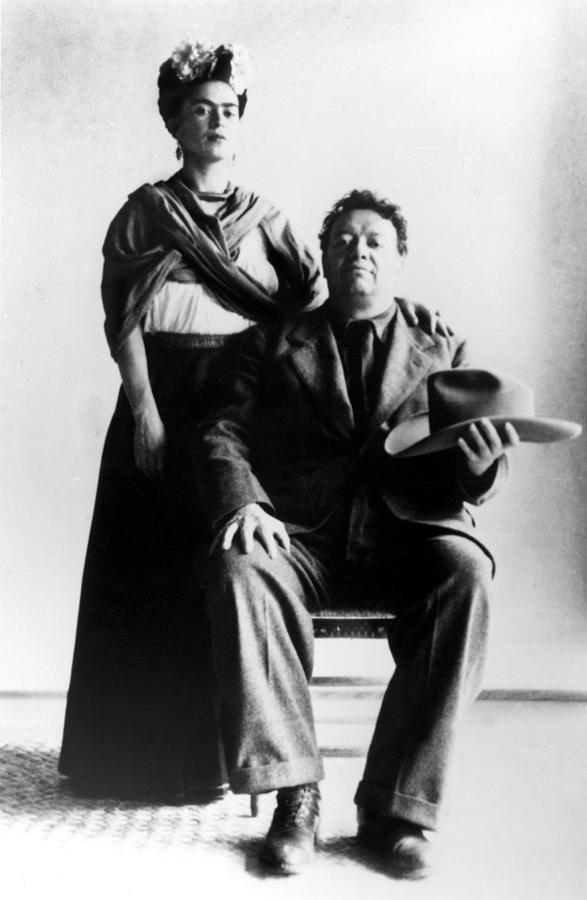 Artist Photograph - Mexican Artists Frida Kahlo by Everett
