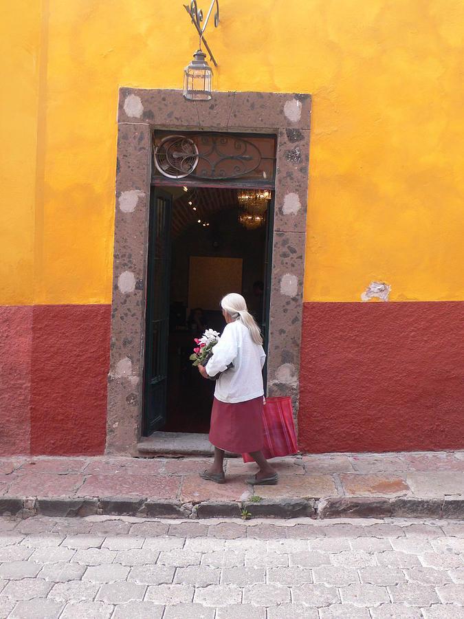 Door Photograph - Mexican Doorway by Francine Gourguechon