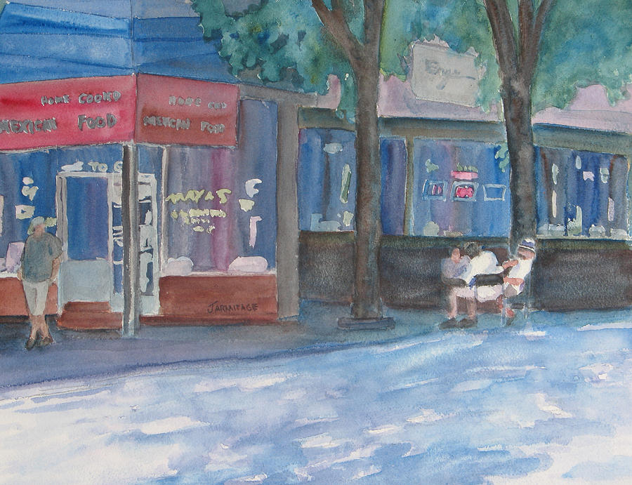 Restaurant Painting - Mexican El Fresco by Jenny Armitage