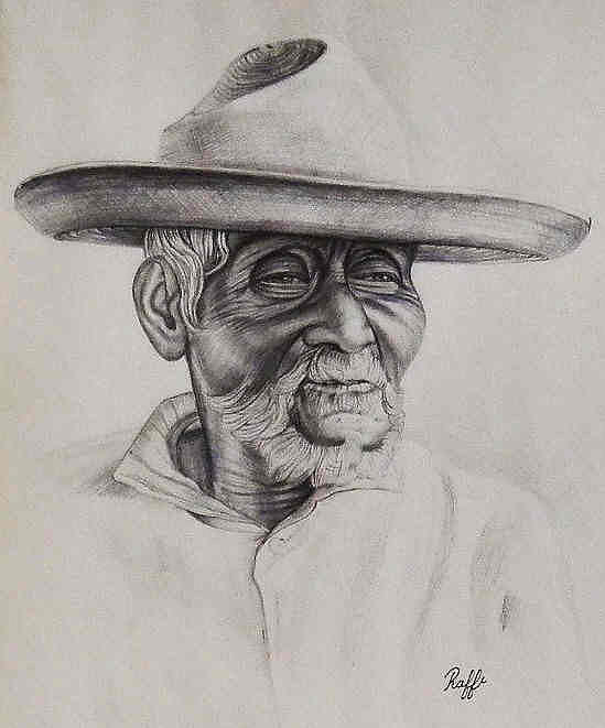 Mexican Drawing - Mexican Farmer by Raffi Jacobian
