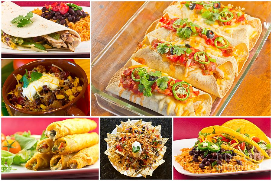 Mexican Food Collage Photograph by Ezume Images