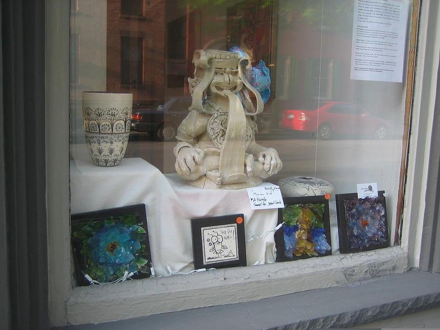 Ceramic Painting - Mexican Insult God by Lehua Ehukai