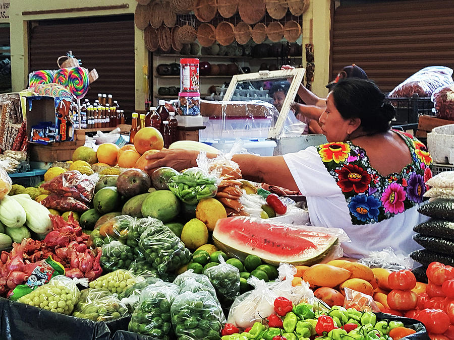 mexican market tulum photograph by imagery at work