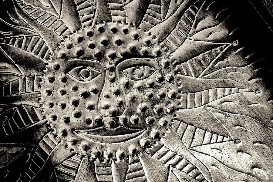 Sun Photograph - Mexican Mirror Detail by Carol Leigh