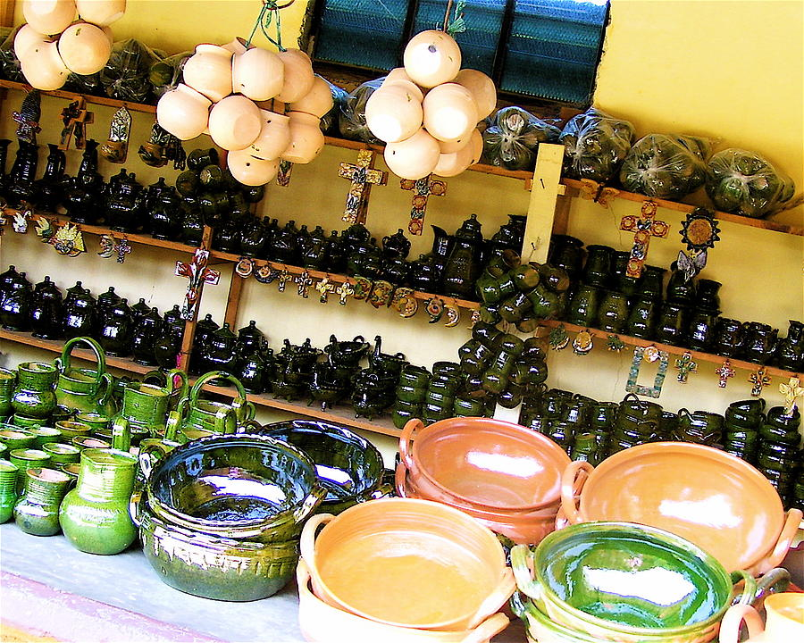 Mexican Photograph - Mexican Pottery by Michael Peychich