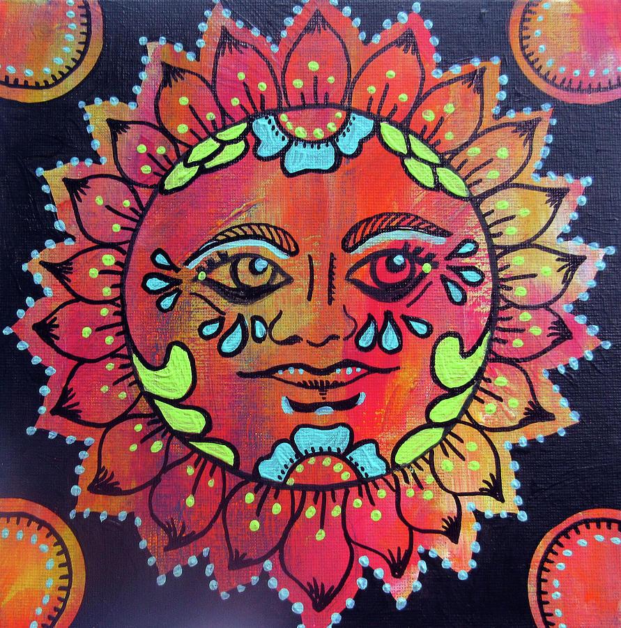 Mexican Sun Painting by Roseann Amaranto