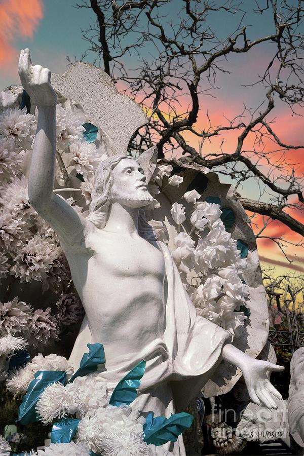 Mexico cemetery sculpture photograph - Resurrection t Dawn by Sharon Hudson