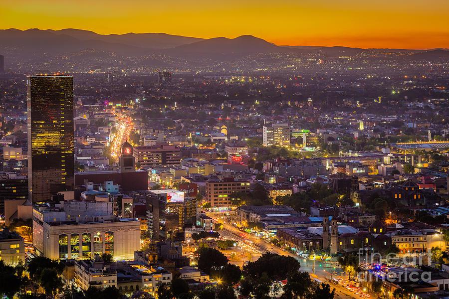Mexico City Sunset Photograph