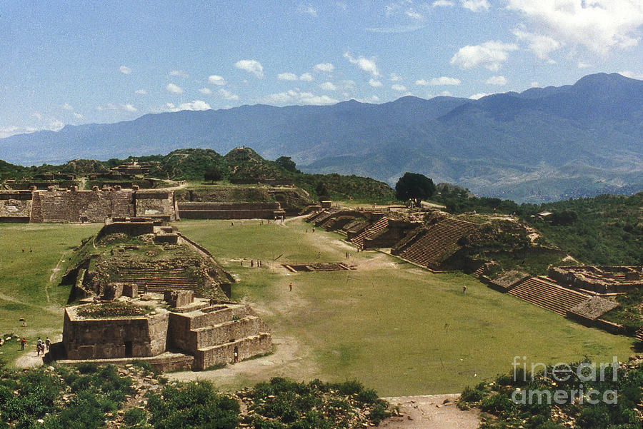 American Indian Photograph - Mexico: Monte Alban by Granger
