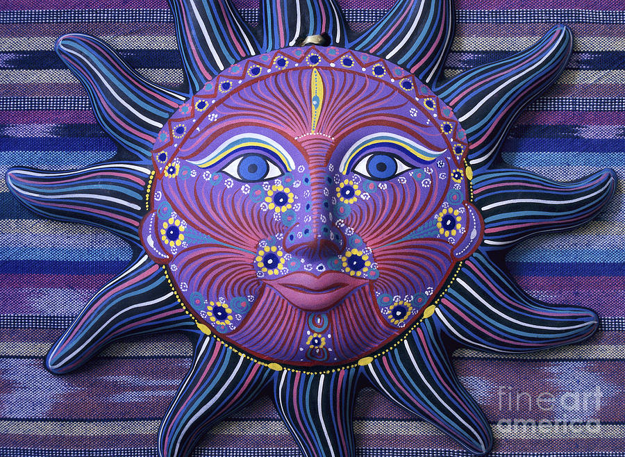 Mexico Photograph - Mexico Sun Face Fantasy Still Life - Blue Sun Face by Sharon Hudson