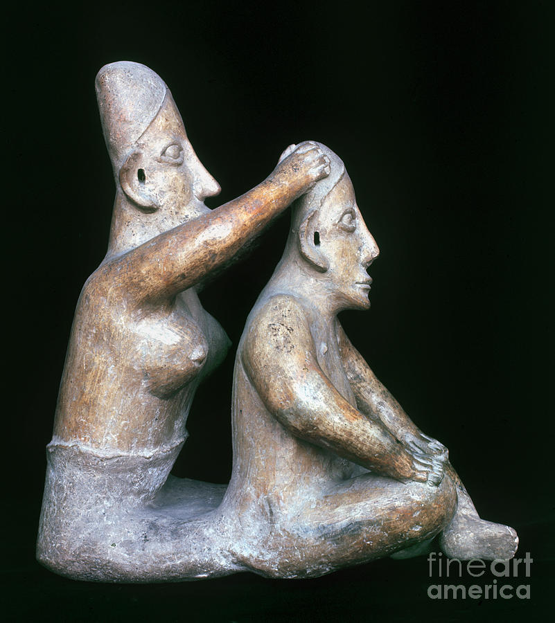 Ancient Photograph - Mexico: Totonac Figures by Granger