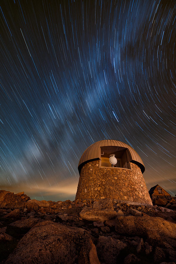 All Rights Reserved Photograph - Meyer Womble Star Trails by Mike Berenson