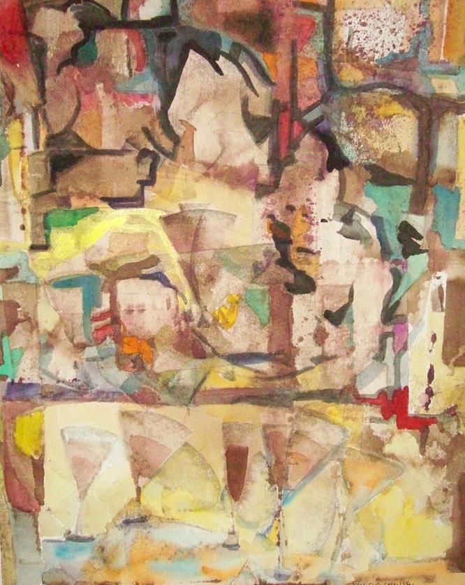 Mezzo Painting - Mezzo Five by James Christiansen