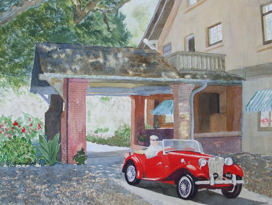 Mg Painting - Mg At Marston House by Ally Benbrook