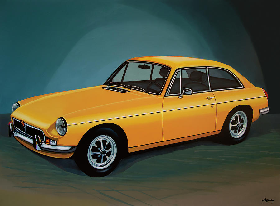 Mgb Gt Painting - Mgb Gt 1966 Painting  by Paul Meijering