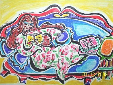 Love Painting - Mi Amor Gabriel by Lilia  Estrada