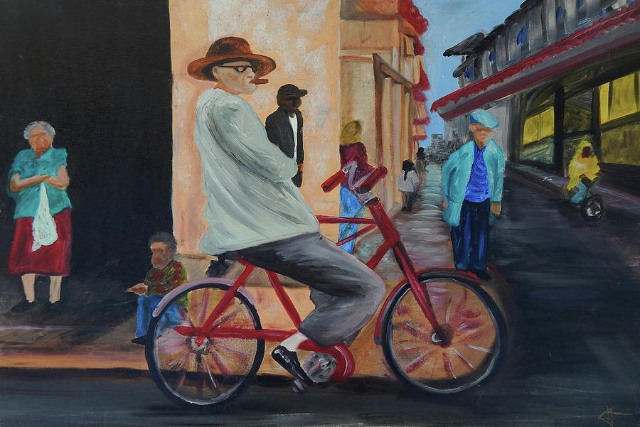 Bicicleta Painting - Mi Bicicleta by Jorge Delara