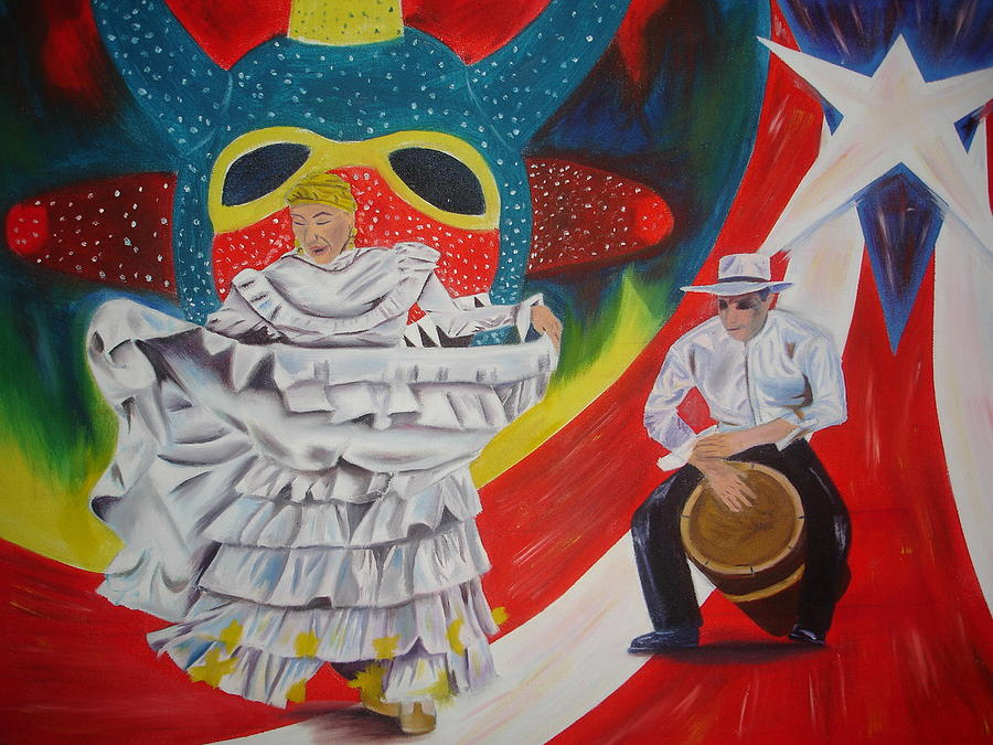 Bomba Painting - Mi Cultura by Gilbert Nieves