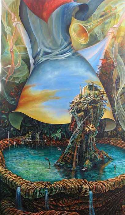 Mi isla baila Painting by Arnaldo Ladron de Guevara