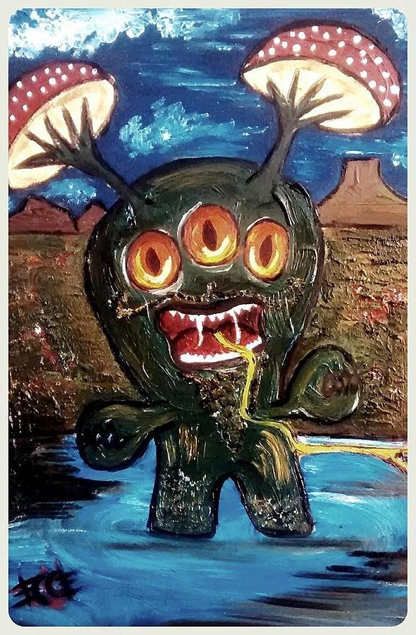 Mi Mounstrito Painting by Kika Coles
