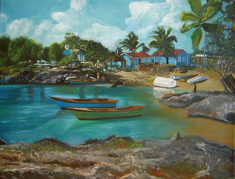 Landscape Painting - Mi Pais by Jesus Miguel Rosado Perdomo