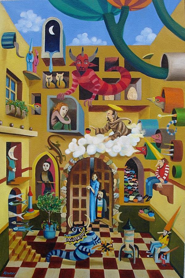 Fantasy Painting - Mi Vecindario by Enrique Alcaraz