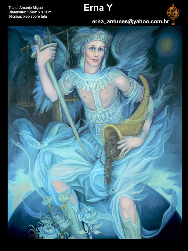 Miachael Archangel Painting by Erna Y