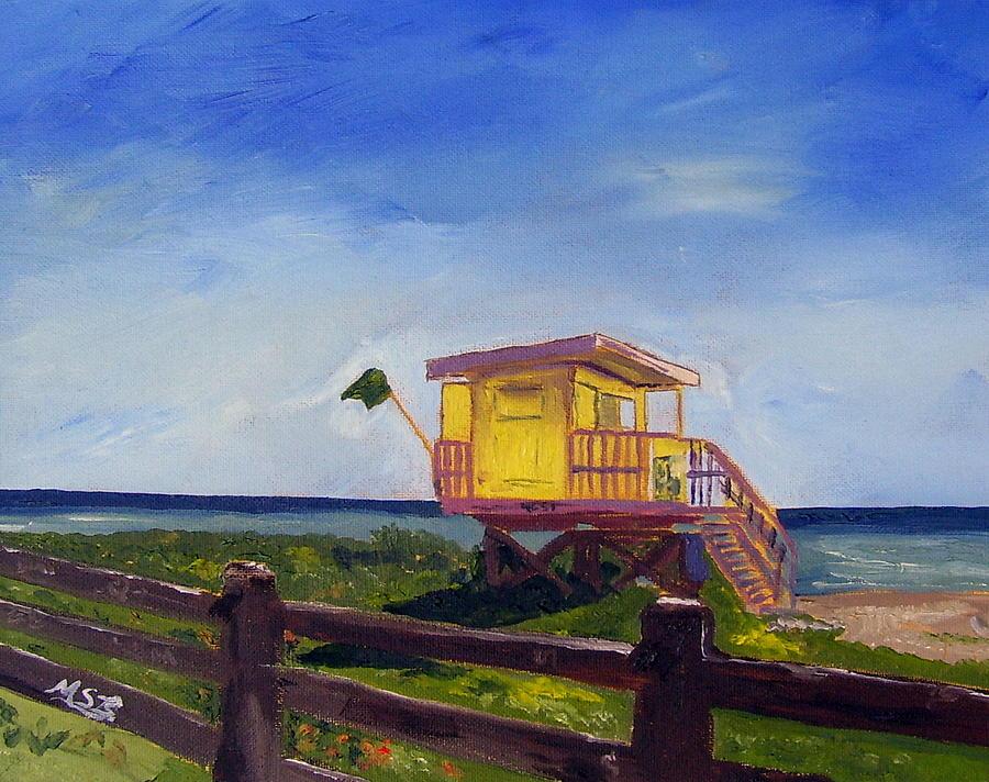 Miami Beach Painting - Miami Beach Lifeguard 46 St. by Maria Soto Robbins