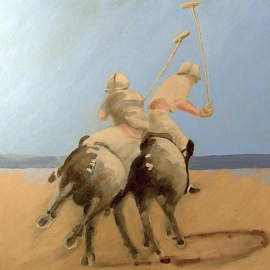 Miami Beach Polo  Painting by Jea DeVoe