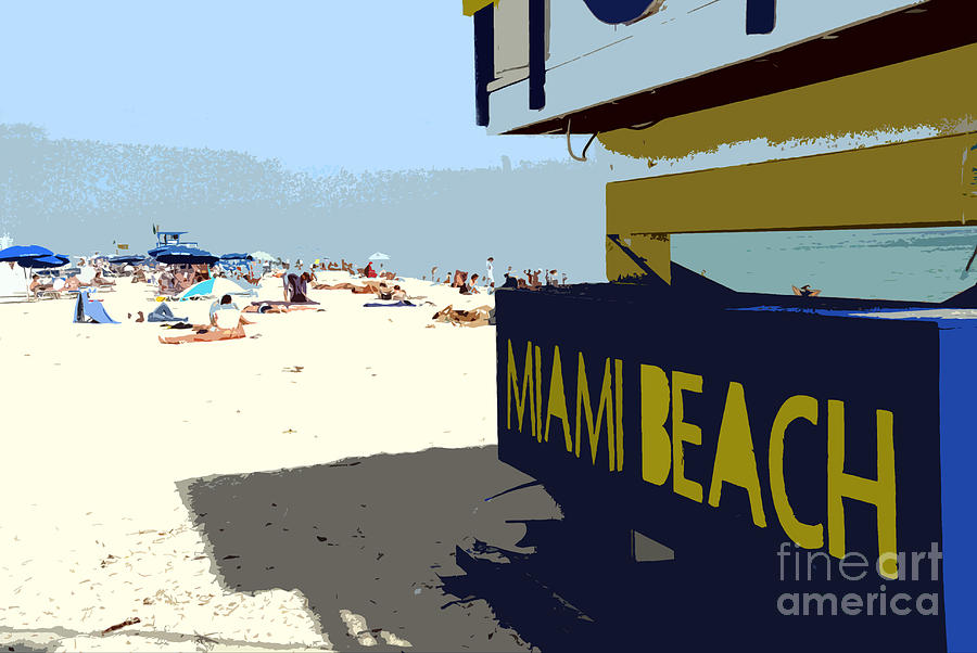 Miami Beach Florida Photograph - Miami Beach Work Number 1 by David Lee Thompson