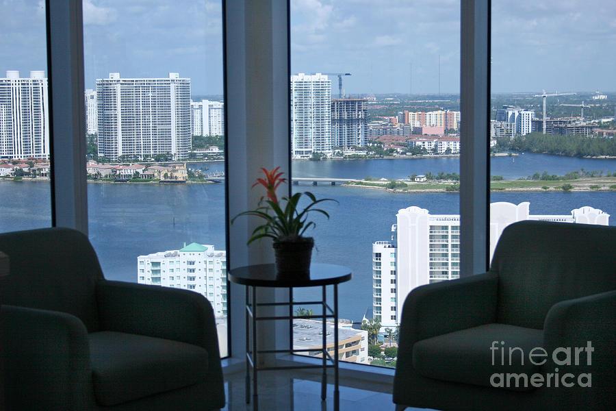 Miami Fl Photograph - Miami Business World by Mary Lou Chmura