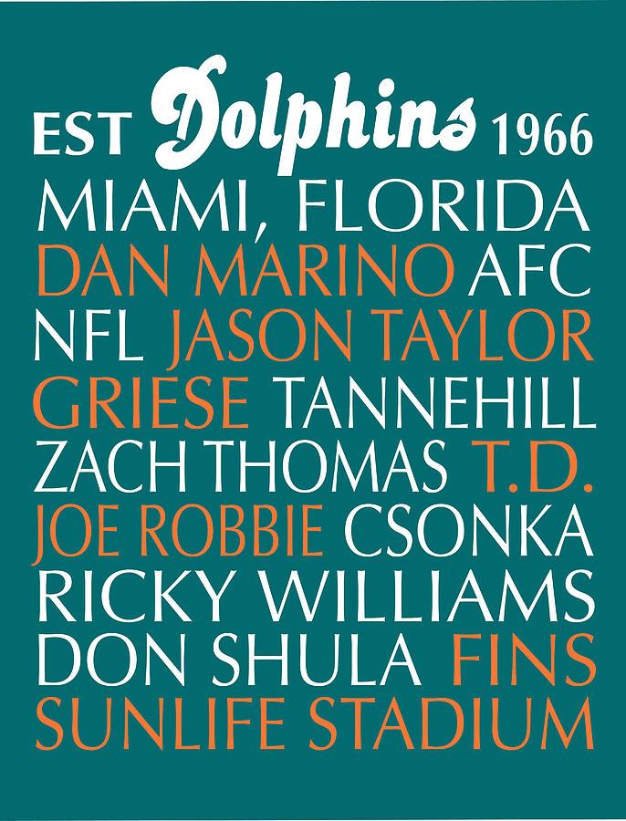 Miami Digital Art - Miami Dolphins by Jaime Friedman