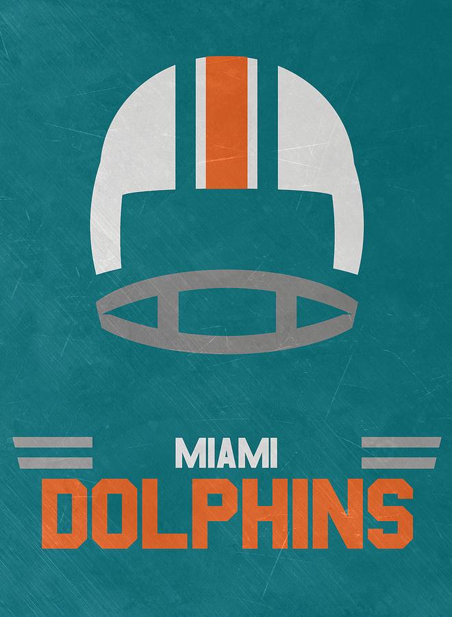 Miami Dolphins Vintage Art Mixed Media by Joe Hamilton c13ef1581